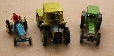 3 x Vintage Britains Diecast Model Toy Farm Tractors