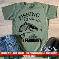 Fishing Grandad Are Born In Month T Shirt Carp Fish Christmas Birthday Gift Top