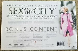 Sex & The City Complete Collection 18-disc NEW Sealed 2 Movies BONUS Travel Bags