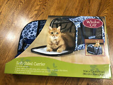 Euc Whisker City Soft Sided Comfort Pet Carrier Travel Bag Up To 22 lbs.