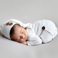 Newborn Photography Props Baby Hat Cap Crochet Knitted Costume Clothes Outfits
