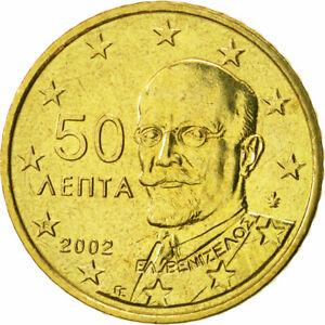 [#466320] Grèce, 50 Euro Cent, 2002, SPL, Laiton, KM:186