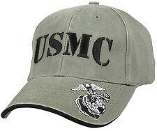 Military USMC US Marine Corps Ballcap Cap Hat Vintage Style Rothco 9738