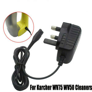 UK Plug Window Glass Vacuum Cleaner Chargers for Karcher WV75 WV50 5.5V Power