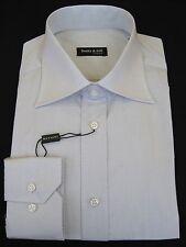 "Shirt - Dress - Men's - 15"" neck - Cotton - Italian - Light Gray - From Italy"