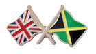 Jamaica Flag & United Kingdom Flag Friendship Courtesy Pin Badge