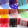 Wholesale Rondelle Faceted Crystal Glass Spacer Beads 4/6/8/10mm Colour Choice
