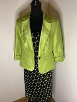 Dana Kay Women's Dress Suit Mid-Calf Black Green Size 10
