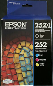 Epson 252XL/252 High-Yield Black And Standard-Yield Cyan/Magenta/Yellow Ink