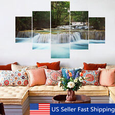 5Pcs Unframed River Landscape Print Canvas Painting Absterct Wall Art Oil