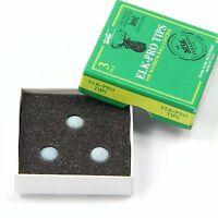 NEW! Elk Master PRO Pool Snooker Cue Tips - 9mm MEDIUM FREE C&C Cue Tip Gel Glue