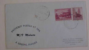 NORFOLK ISLAND USED in SOLOMON ISLAND 1955 TO USA --ANDIN TO USA