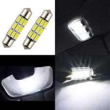 2 lampadine a LED smd bianco xeno a siluro 37 mm illuminazione luce interna auto