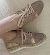 Kanna Blush/ Gold Leather Sneaker Size EU36/US 5