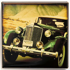 """OLD GREEN CAR - Square Magnet 2"""" Classic Vintage Look"""