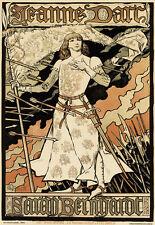 Art Deco-Sarah Bernhard-Juana de Arco-francés arte cartel impresión A3