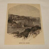 1885 magazine engraving ~ ANNE PORT, Jersey, UK