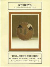 SOTHEBY'S Japanese Sword Fittings Backhoff Collection Auction Catalog 1981