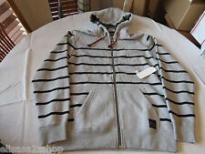 Men's Quiksilver jacket hoodie zip up coat L Torquay SJN0 aqyft00123 hthr gray