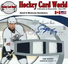 (HCW) 2007-08 Sweet Shot SAM GAGNER Auto / Jersey RC 15/100 Rookie Oilers
