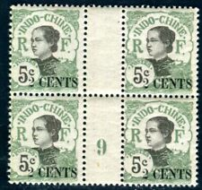 INDOCHINE 1919 Yvert 75 * MILLESIMES 9 im VIERERBLOCK (F4362