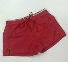 Men's Red Diesel Swim Shorts Small S Short Length Trunks Mesh Lined Printed A*