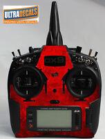 Spektrum DX9 DX8 DX7S Red Grunge Skin Wrap Decal Transmitter Controller Skinz