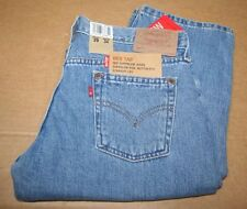 Levi's Mens 502 Button Fly Straight Leg Jeans, Med Blue, 29W 34L, New With Tags