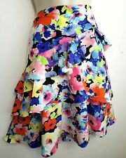 RALPH LAUREN RUFFLED FLORAL SKIRT RRP£105.0 SIZE US10 UK14 PINK BLUE RED YELLOW