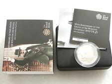 2015 Death of Winston Churchill £5 Five Pound Silver Proof Coin Box Coa