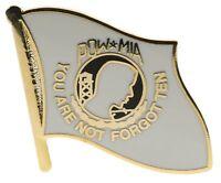 POW / MIA Flag (white) Hat or Lapel Pin H15458D90