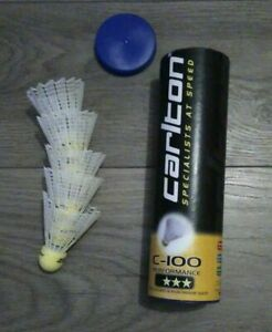 5 Carlton premium nylon badminton shuttles shuttlecocks