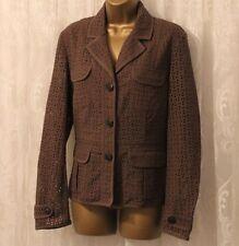 Karen Millen LTD Ed Broderie Anglaise Khaki Safari Pocket Occasion Jacket 14 42