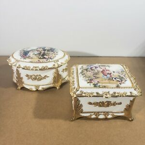 """2 Musical Trinket Boxes: """"What Are Friends For"""" And """"Phantom Of The Opera"""""""