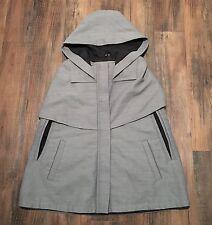 NEW Lacoste Women's Cloak Hooded Cape Jacket Coat Cape Gray • Size 32 XXS (US 0)