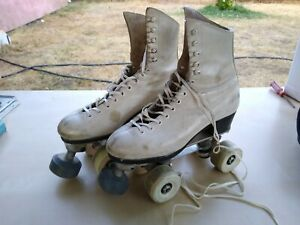Riedell Leather Red Wing Douglass Snyder Super Deluxe Custom Built Skates sz 5.5
