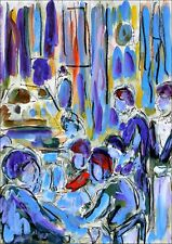 Lounge modern art oil painting Jean Mirre coté ARTPRICE