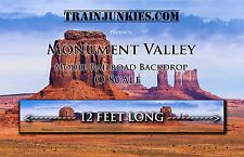 "Train Junkies O Scale ""Monument Valley"" Model Railroad Backdrop 24x144"""