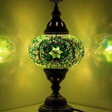 Mosaik Tischlampe Türkische Mosaiklampe Handgearbeitet Orientalische Lampe Grün