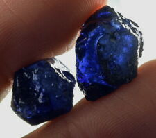 19.2Ct Heated Blue Sapphire Facet Rough Specimen Glass Filled YBB7813