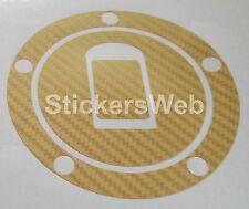 Adesivo Tappo Serbatoio KAWASAKI ZX9R ZX-9R 2000-2003 (Carbonio Oro) Cod.531