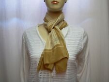 CAROLINE ROHMER Foulard écharpe - beige marron  - 100% soie - Vintage