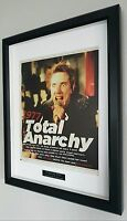 Sex Pistols-Framed Original NME-Plaque-Certificate-NEW-RARE-Punk Johnny Rotten