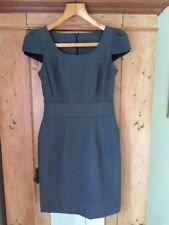 SOUTH grey smart business dress, UK size 8, cap sleeve, round neck.