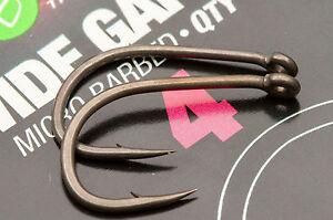 Korda Wide Gape Carp Fishing Hooks - Barbed & Barbless Sizes 2 - 12 Available