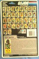 GI Joe CROC MASTER 1986 Cobra 34 Card Back FULL UNCUT FILE CARD Vintage!