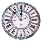 Reloj de Pared de Cuarzo Estilo Toscano Vintage Retro Francesa de Madera 30 cm