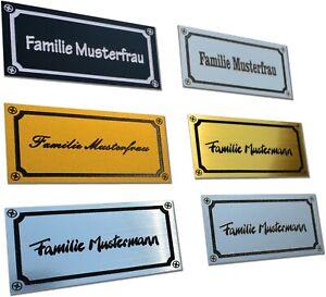 Graviertes Schild Selbstklebend Klingelschild Namensschild Briefkastenschild