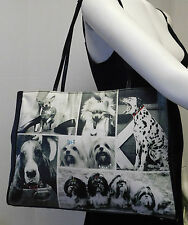 Life Magazine Puppy Dog Rhinestone Shoulder Bag Handbag Purse Tote