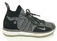 Nike KD 11 Oreo Still KD Flyknit Basketball Shoes Size 4.5Y Black White Sneakers
